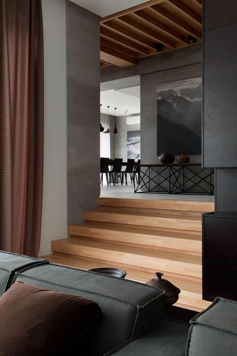Interior-Design Wohnzimmer Esszimmer Treppe